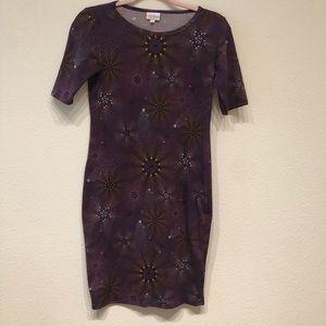 LuLaRoe XS DRESS PURPLE